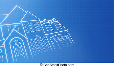 House Blue Prints - House blue prints with grid in ...