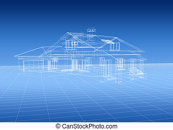 House blueprint - 3d house blueprint
