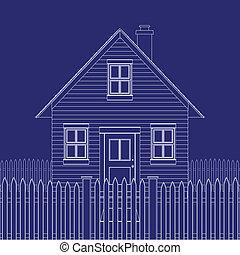 House blueprint - Blue print of a basic small house