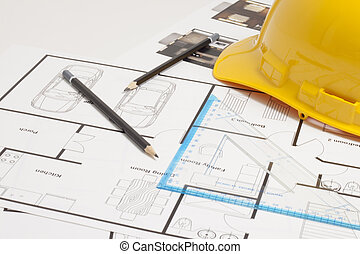House blueprint construction