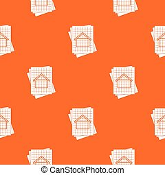 House blueprint pattern seamless