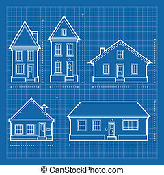 House Blueprints - Blueprint diagrams of a variety of...
