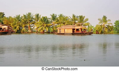 House boat in Kerala Backwaters - Traditional house boats...