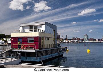 House Boat in Kiel in Germany
