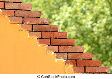 house brick wall architecture detail