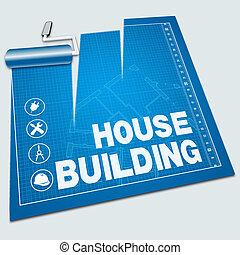 House Building Shows Home Construction 3d Illustration