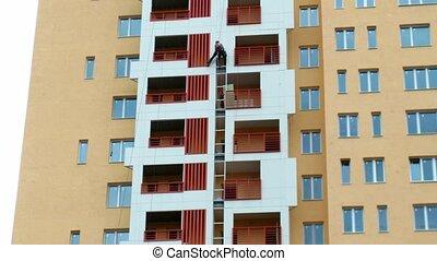 House building: strengthening of balconies