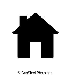 House button icon vector illustration on black background