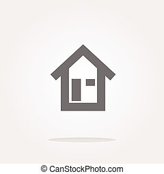 house button, signs, icons set, vector