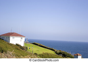 by the beach