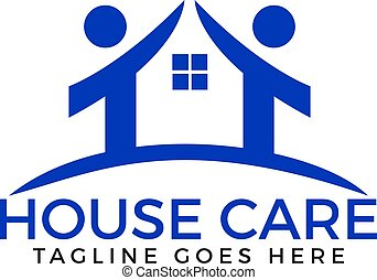 House Care Creative And Symbolic Logo Design.