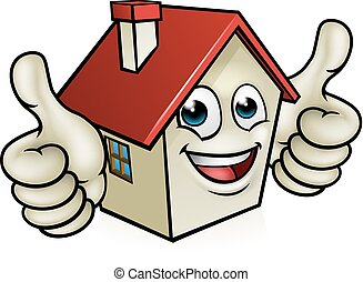 House Cartoon Mascot Character - A house cartoon mascot...