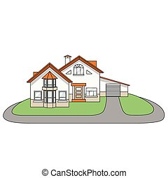 House cartoon vector illustration