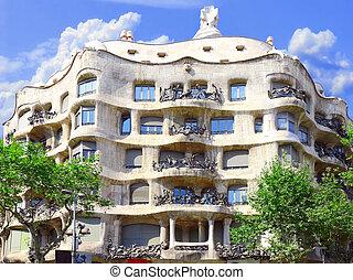 House Casa Mila , Barcelona, Spain.