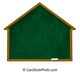 house chalkboard