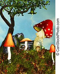 house., champignon