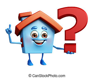 House character with question mark