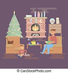 House Christmas room