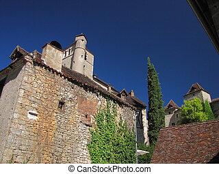 House, church, Lapopie