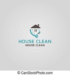 House Clean vector logo design template idea