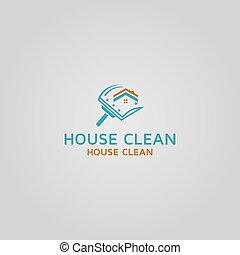 House Clean vector logo design template