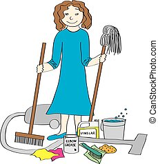House Cleaner and Supplies