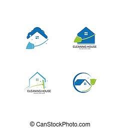 House cleaner logo