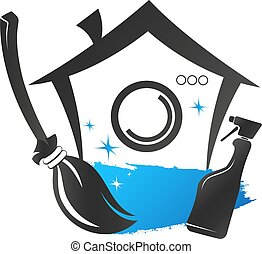 House cleaning and washing symbol