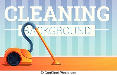 House cleaning concept banner, cartoon style