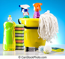 House cleaning - Variety of cleaning products