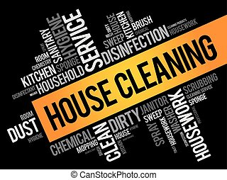 House Cleaning word cloud collage