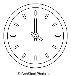 House clock icon, outline style.