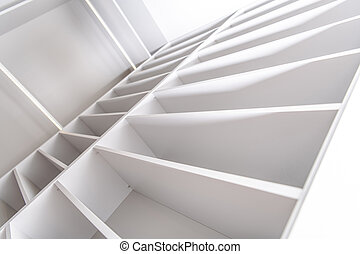 Residential Elegant White Closet Shelfs