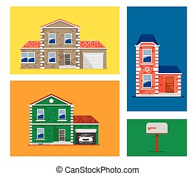House colorful illustration.