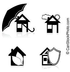house concept black silhouette vector illustration