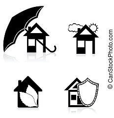 house concept black silhouette vector illustration
