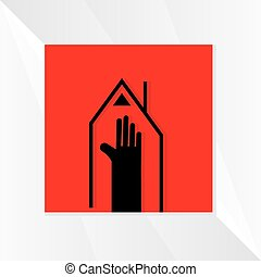 house-concept-with-hand