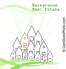 House conceptual Background
