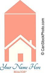 House & condominium realtor graphic symbol.