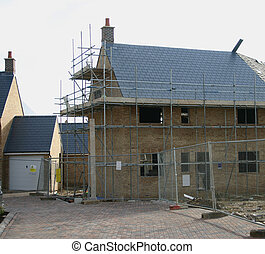 house construction 2 - one of a series of house construction...