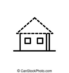 house construction architecture icon line style