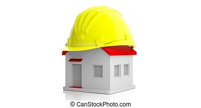 House construction concept. 3d illustration