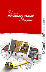 House construction overview customizable