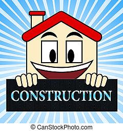 House Construction Showing Home Building 3d Illustration