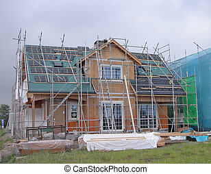 House construction - Holiday house construction site in a...