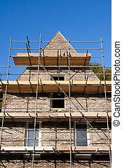 house construction - brick house construction
