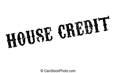 House Credit rubber stamp. Grunge design with dust...