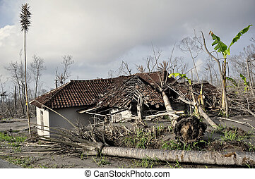 House Damaged by Natural Disaster