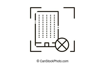 House Demolish Icon Animation. black House Demolish animated icon on white background
