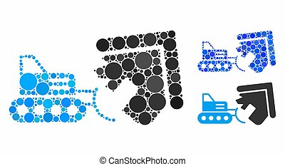 House demolition Mosaic Icon of Round Dots
